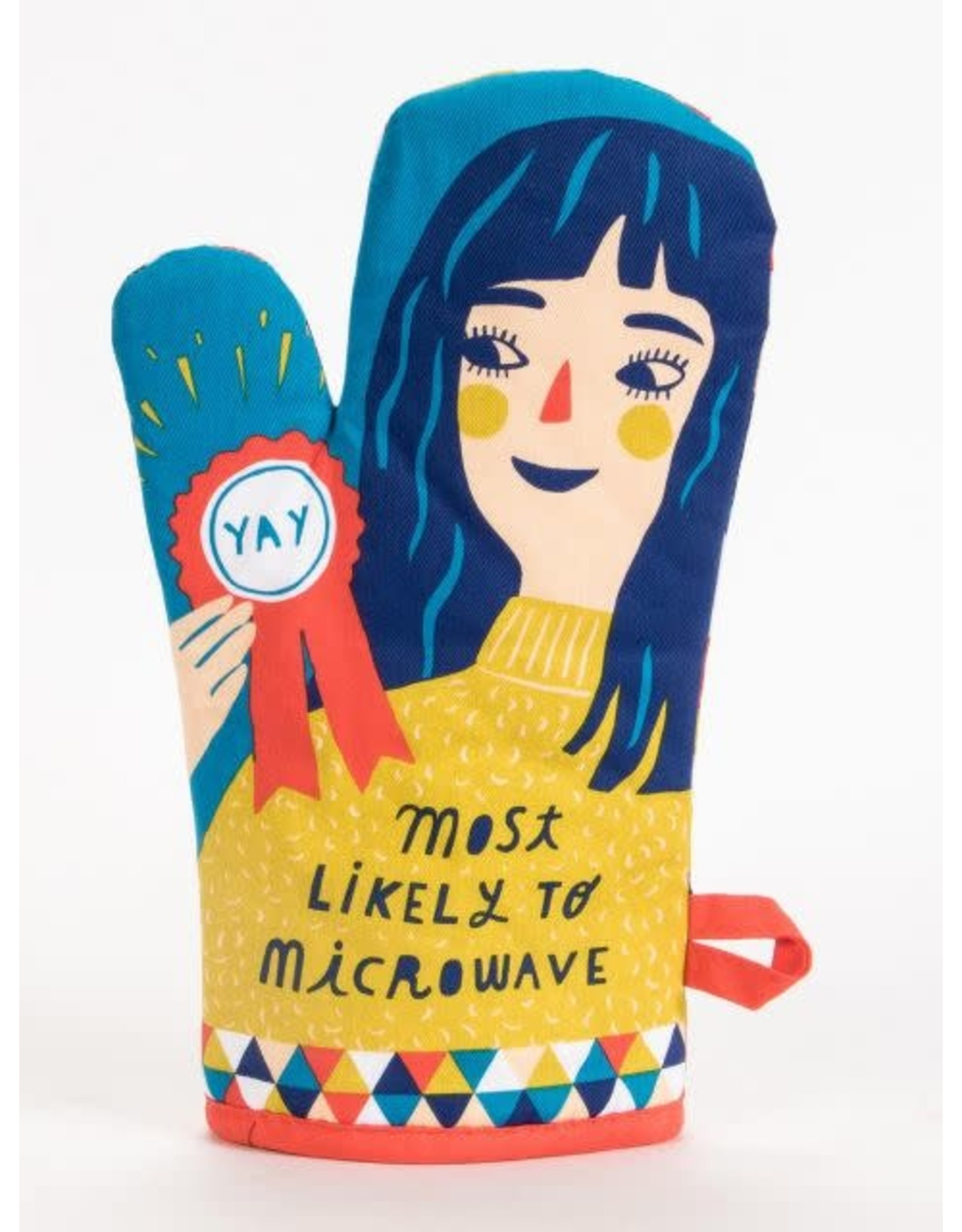 Blue Q Oven Mitt,  Most Likely to Microwave