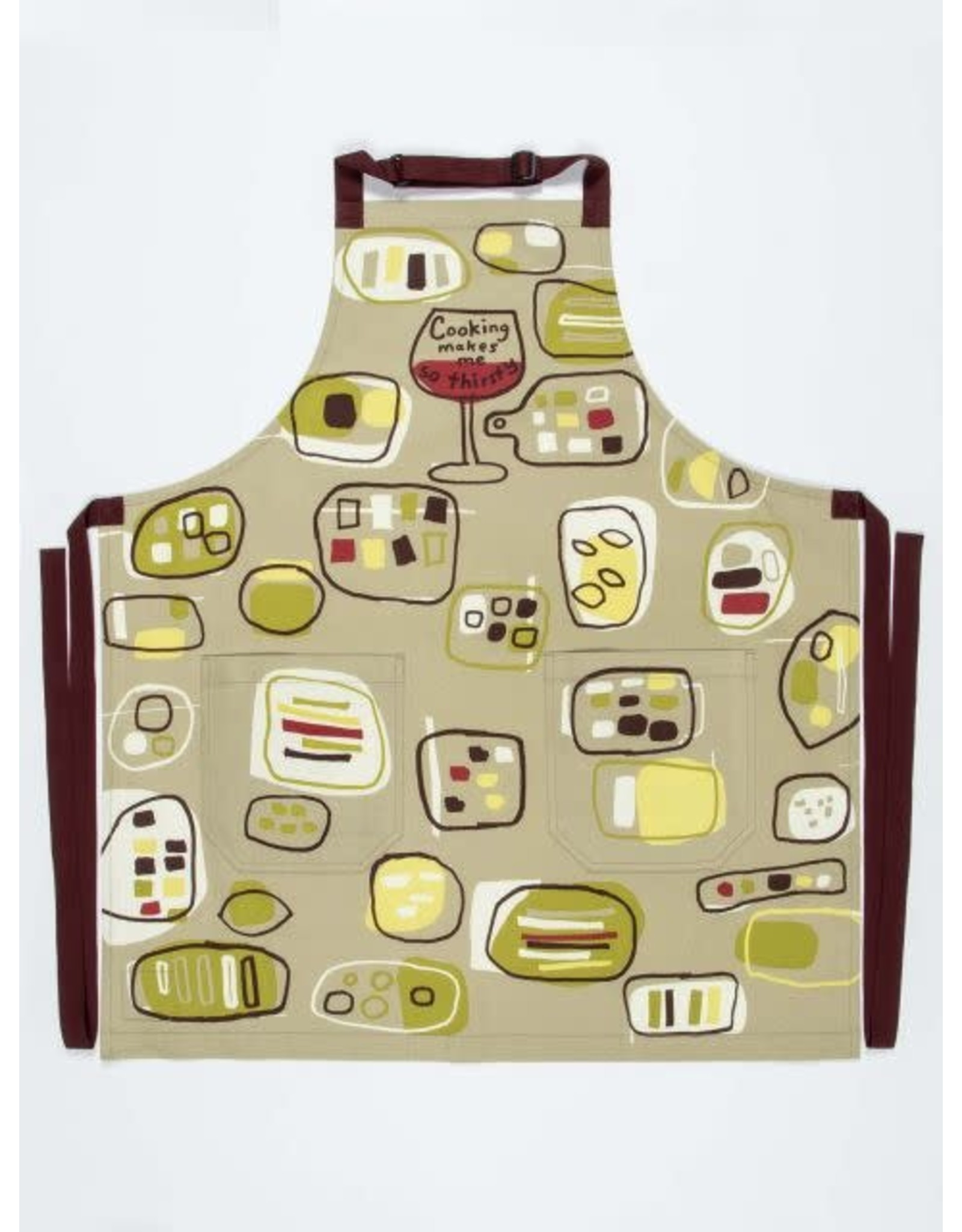 """Apron, Full, """"Cooking makes me thirsty"""", 28x31"""