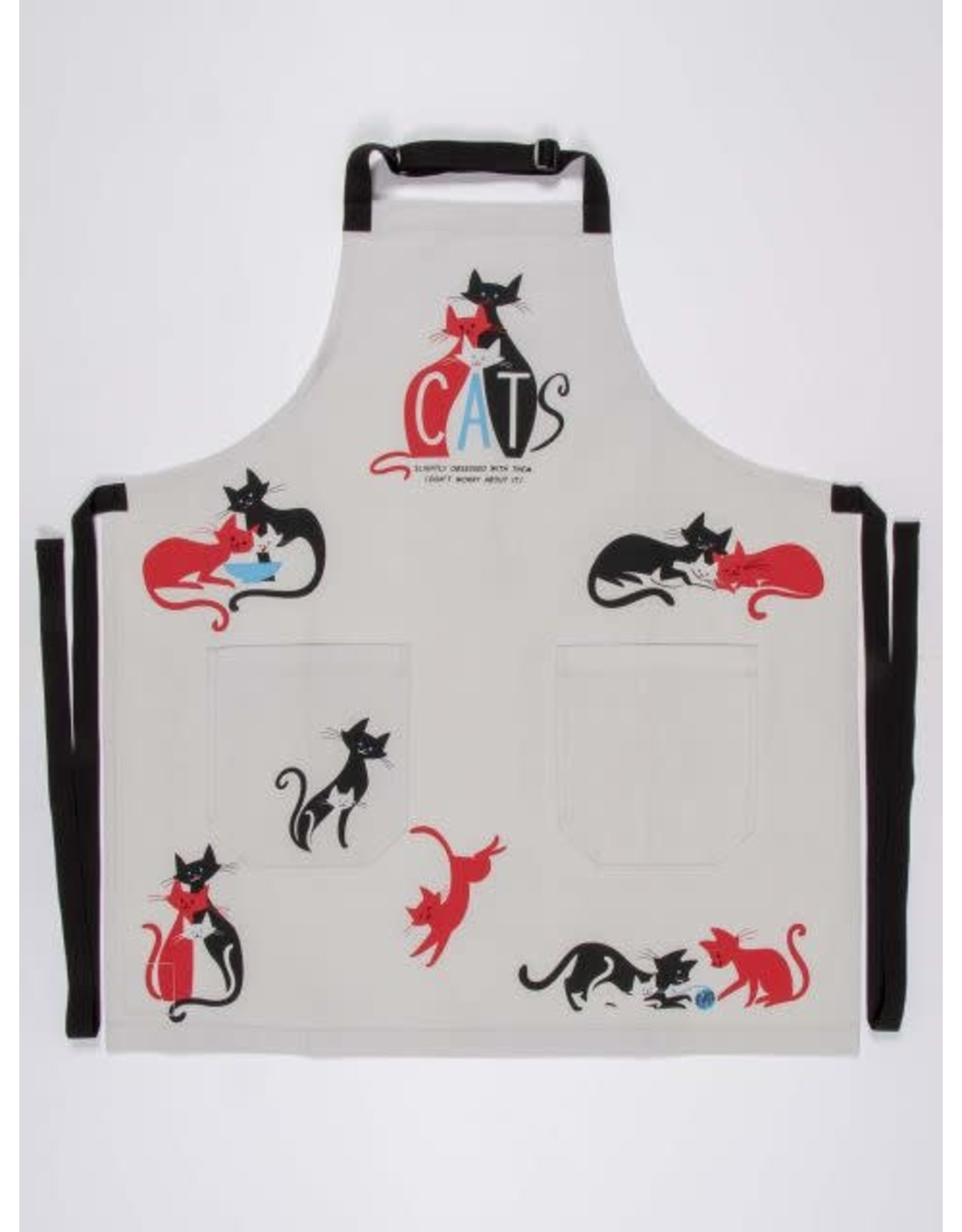 """Apron, Full, """"Cats.  Slightly obsessed with them"""",  28x31"""