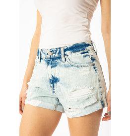 Kancan Shorts, Distressed High-rise Frayed
