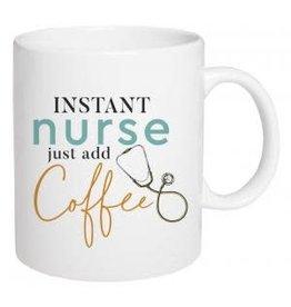 P Graham Dunn Mug, Ceramic- Instant Nurse Just Add Coffee