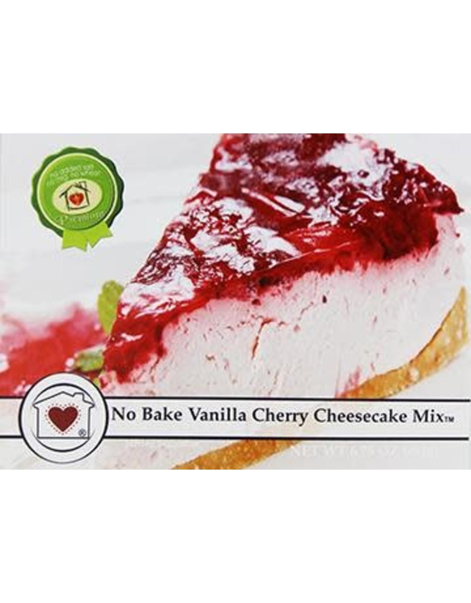 Country Home Creations No Bake Vanilla Cherry Cheesecake Mix, 6.75 oz