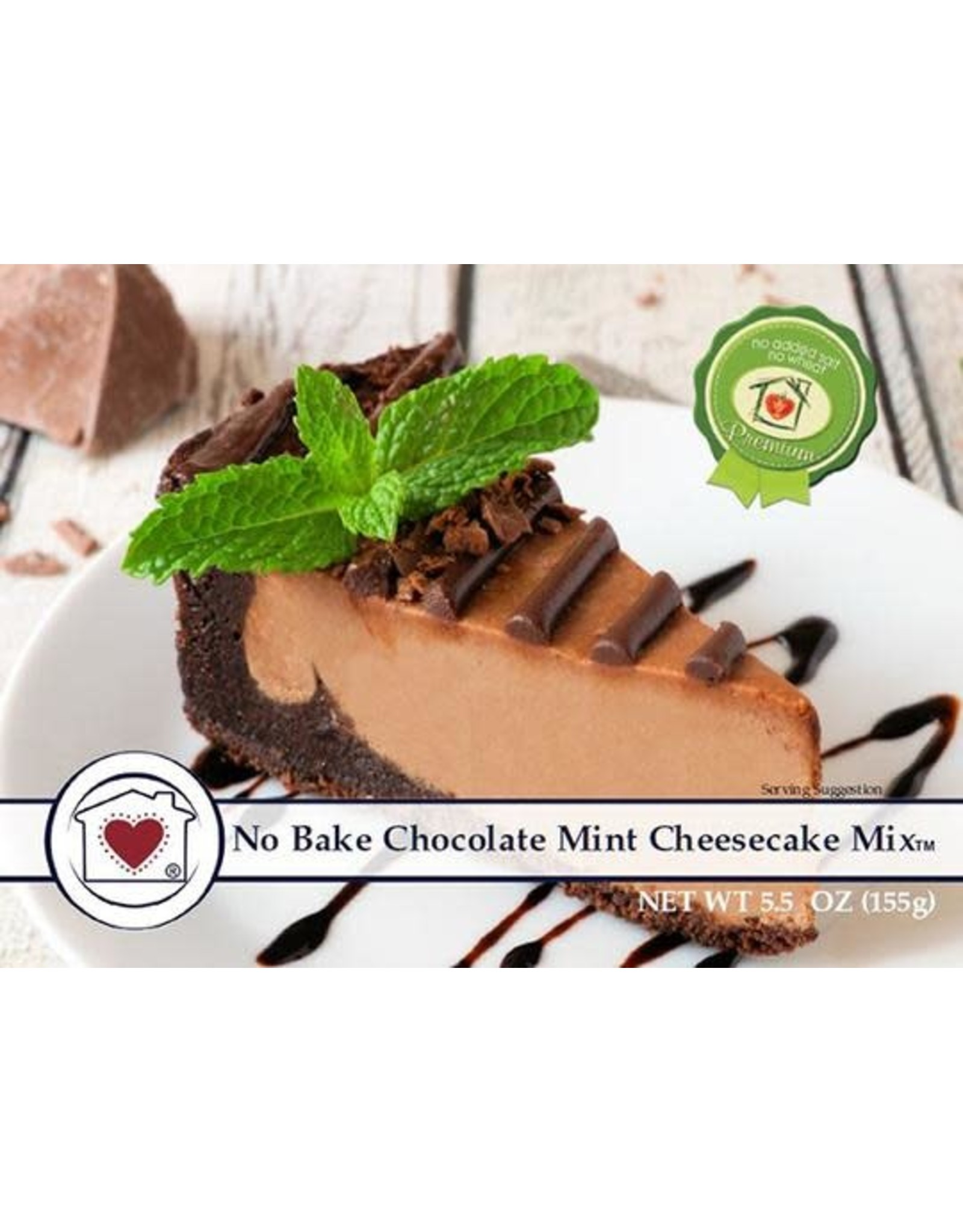 Country Home Creations No Bake Chocolate Mint Cheesecake Mix, 5.5 oz