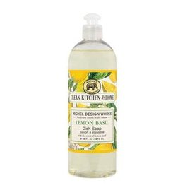 Michel Design Dish Soap, Lemon Basil, 16oz