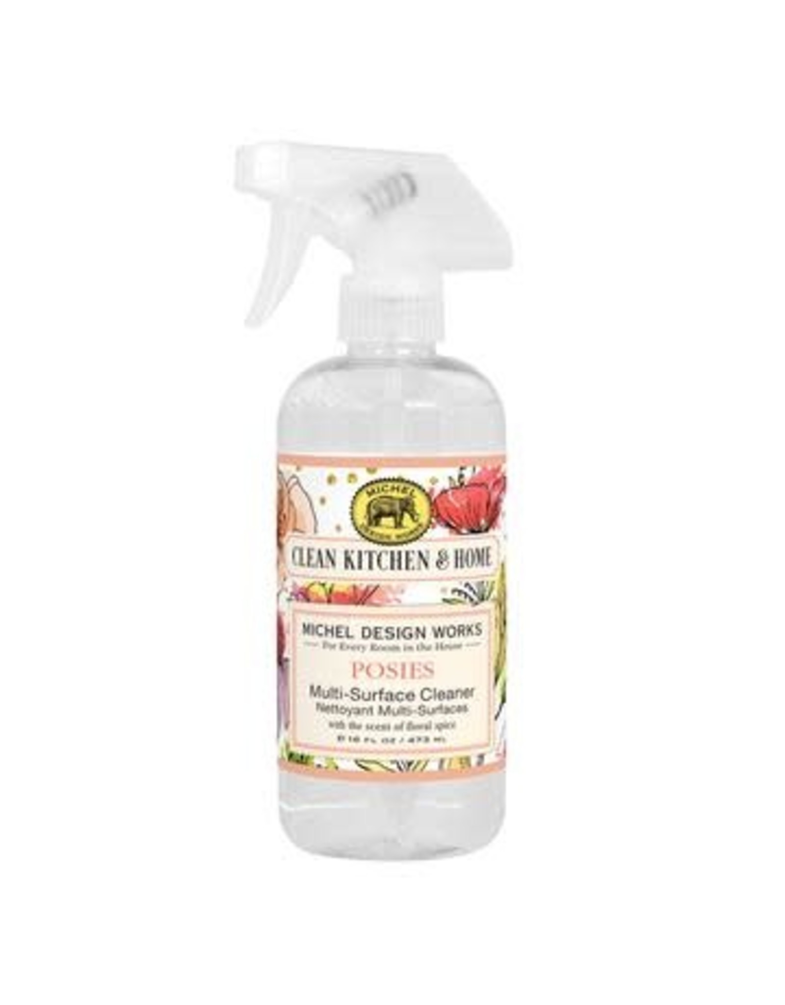 Michel Design Cleaner, Multi- Surface- Posies- 16 Ounce