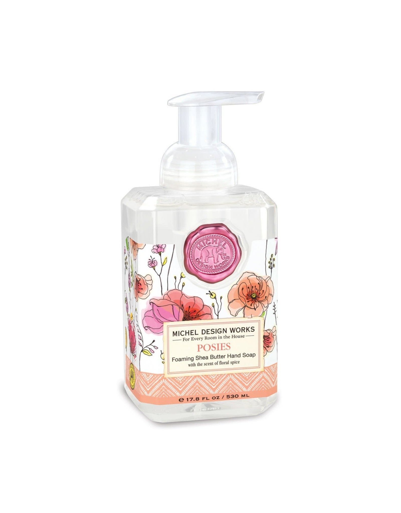 Michel Design Foaming Hand Soap, Posies, 4.7oz