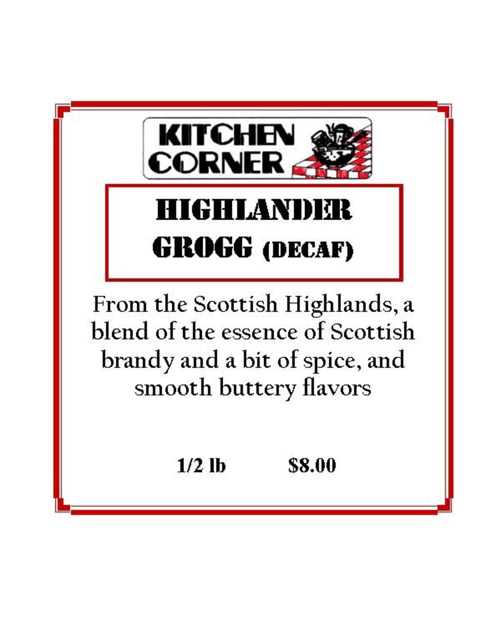 Coffee Master Coffee, Highlander Grogg Decaf, 1/2lb