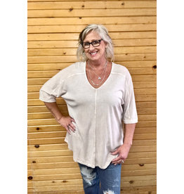 M Rena Misty Morning Mineral Wash Top