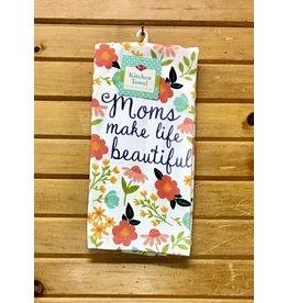 John Ritz Dishtowel, Dual, Moms Make Life Beautiful
