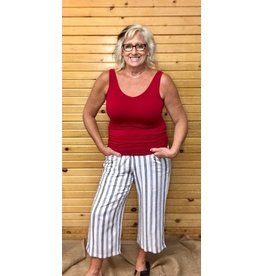 Picadilly Wide Leg Stripe Pant