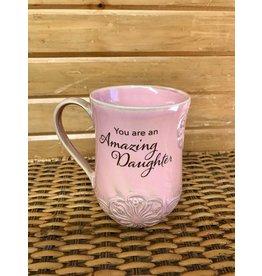 Mug, Pottery - Amazing Daughter