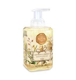 Michel Design Foaming Hand Soap, Oatmeal & Honey, 17.8oz