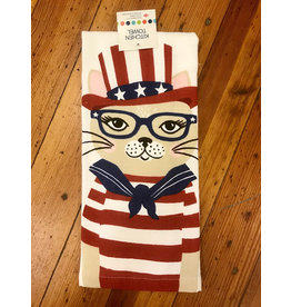 Dishtowel, Dual, Patriotic Kitty