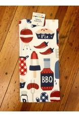 John Ritz Dishtowel, Dual, BBQ Red/Blue