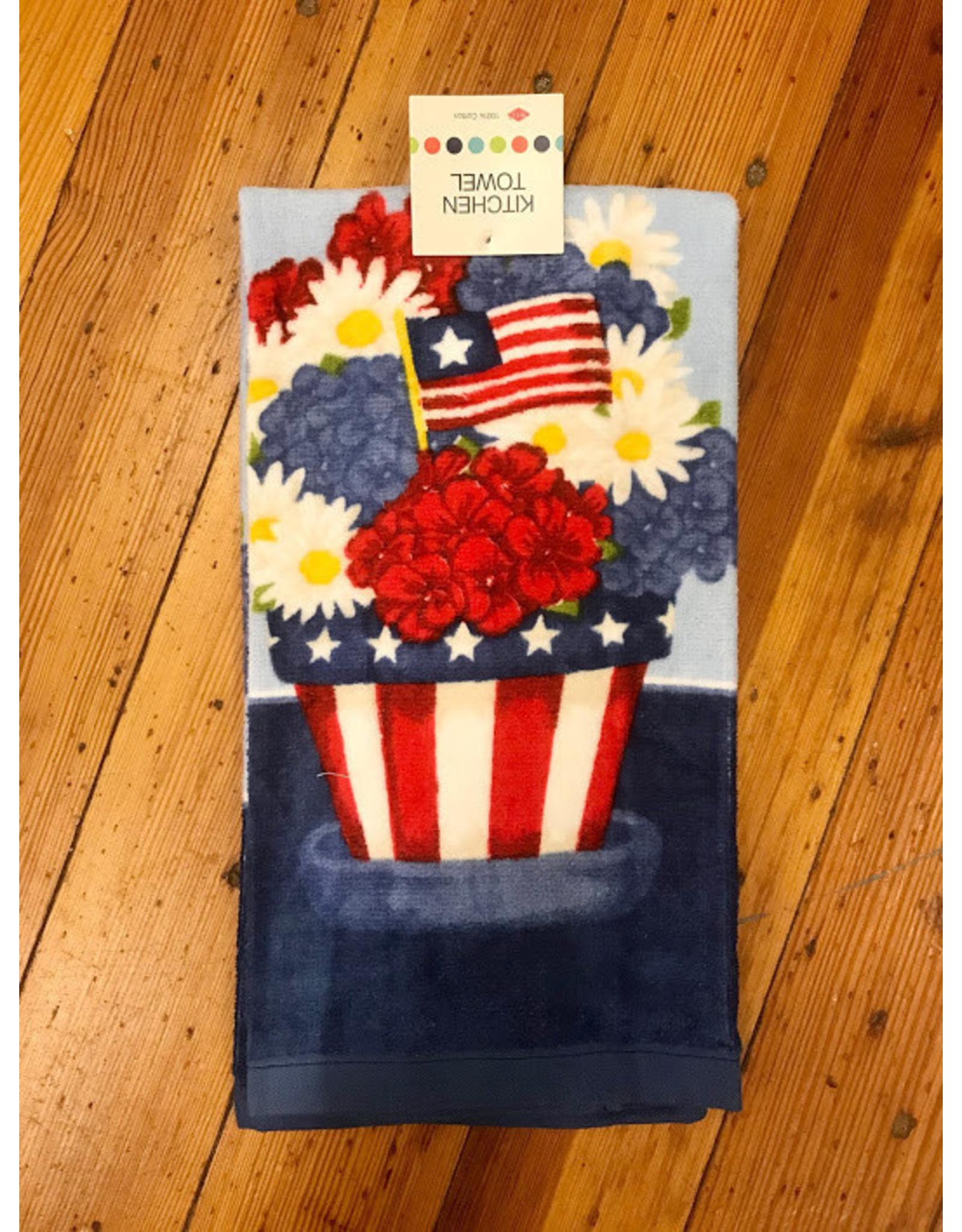 Dishtowel, Reactive, Americana Floral