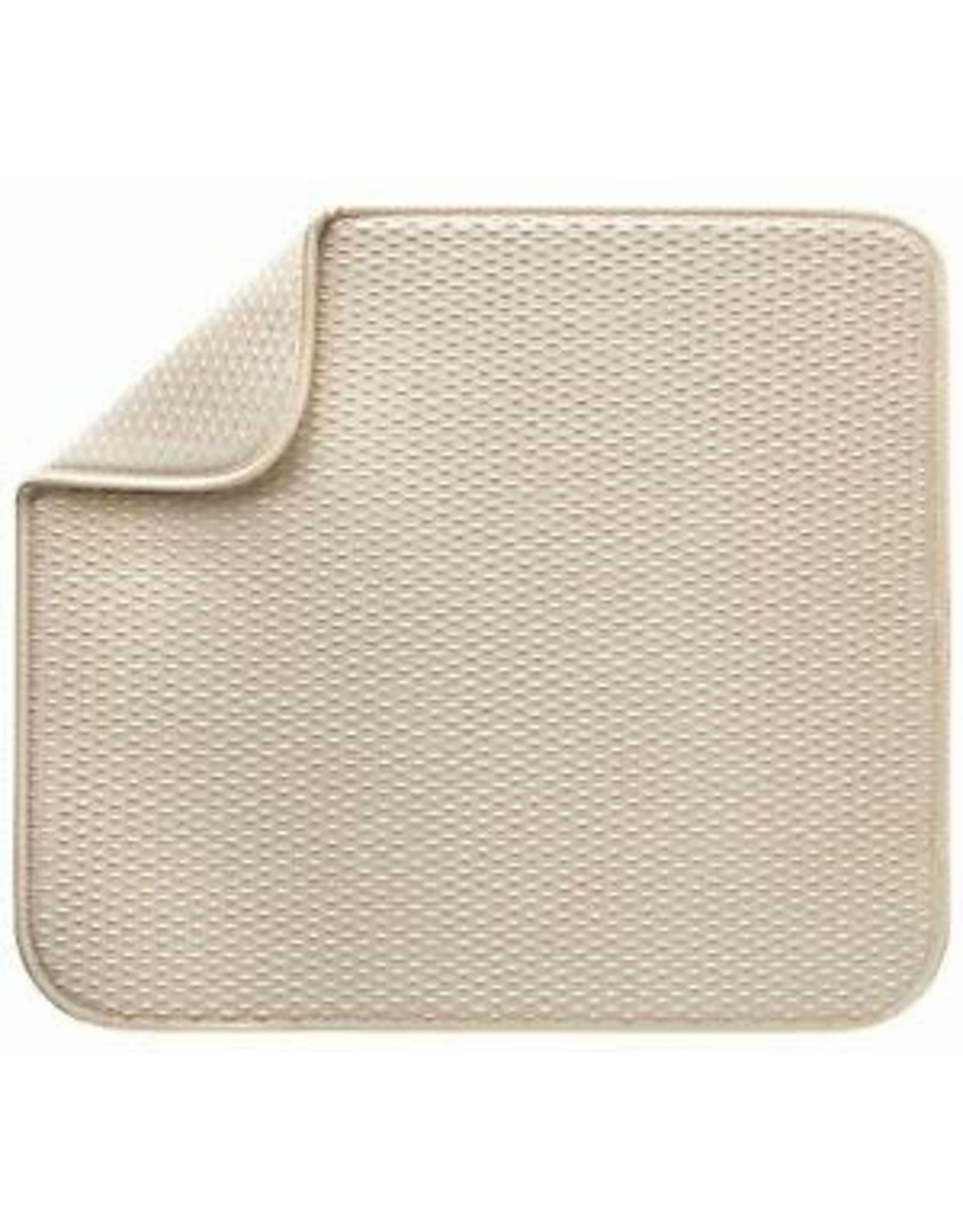 Fox Run Dish Drying Mat, Cream, 18x24