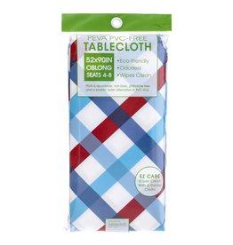 John Ritz Tablecloth Americana Plaid 52x70