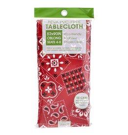 John Ritz Tablecloth Red Bandanna 52x90