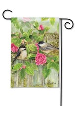 Magnet Works Garden Flag, Garden Chickadees, 12x18