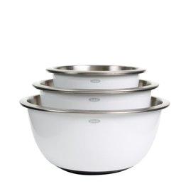 Oxo SS Mixing Bowl Set, White, S/3