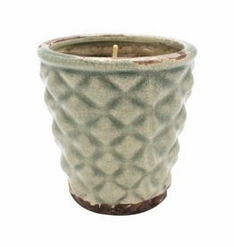 Swan Creek Candle, English Garden Hobnail, Rnd 6oz Spring Thyme