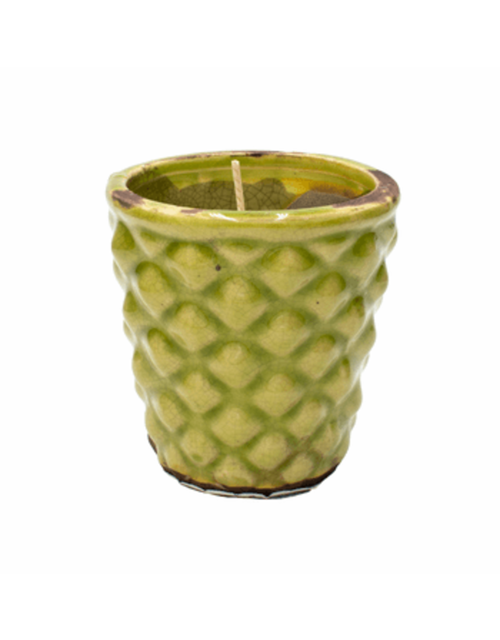 Swan Creek Candle, English Garden Hobnail, Rnd 6oz Summer Melon