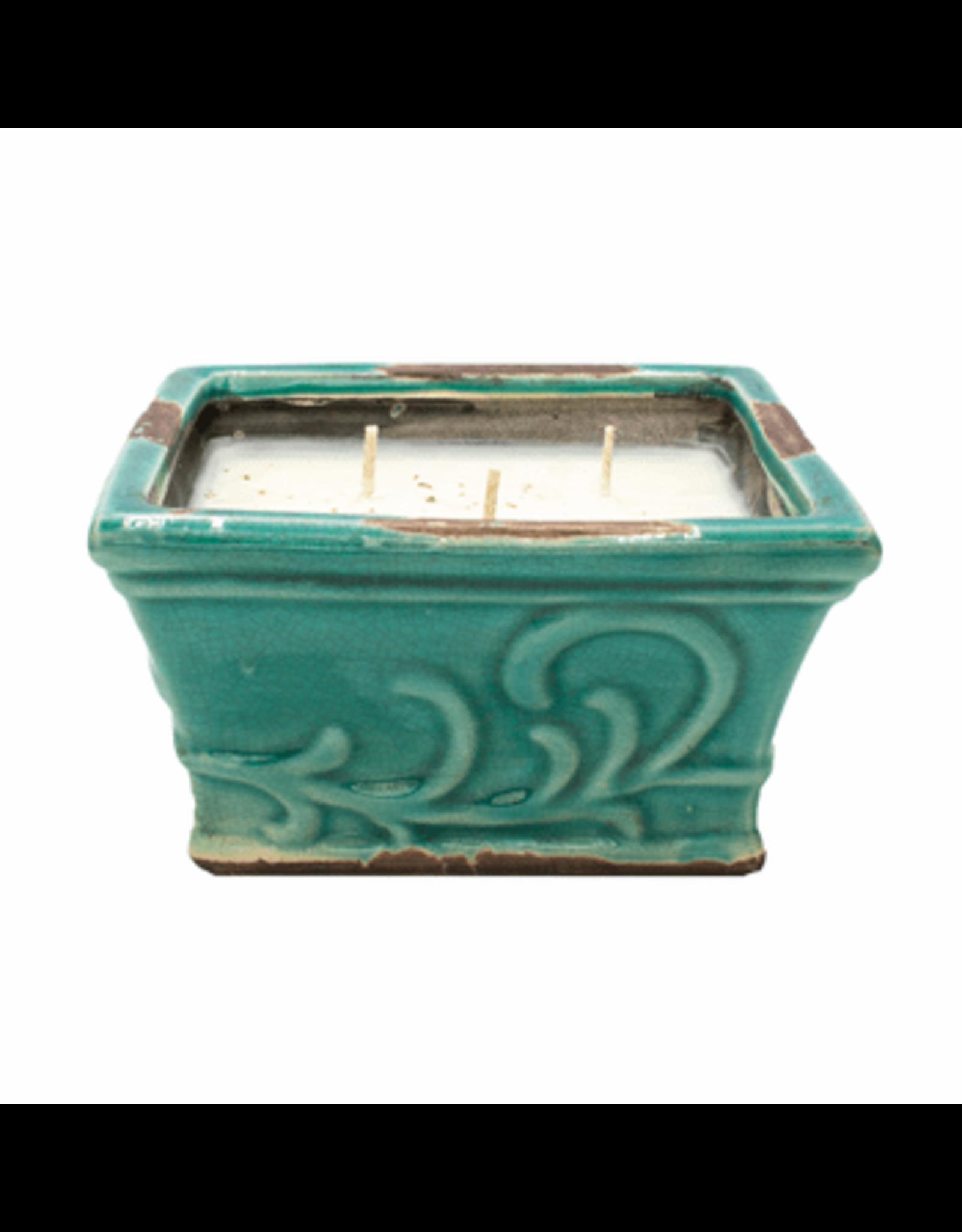 Swan Creek Candle, English Garden, Lg Sq 16oz Southern Sweet Tea