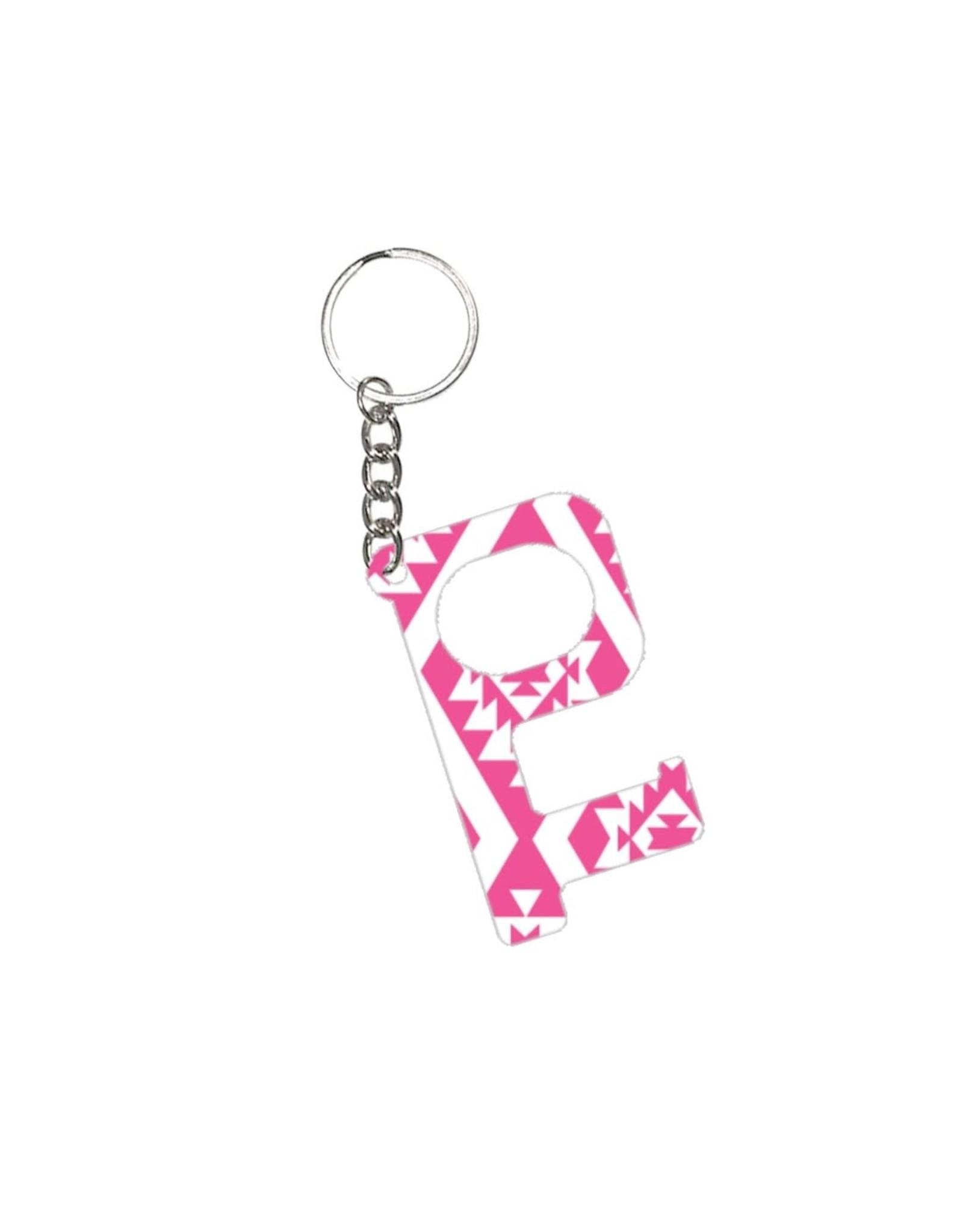 Acrylic Door Key, Pink Aztec