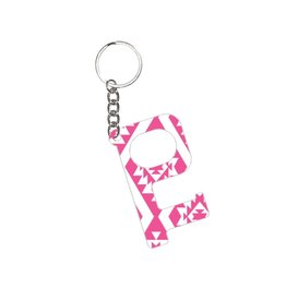 Acrylic Door Key, Pink Aztec