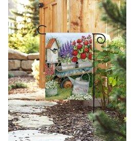 Magnet Works Garden Flag, Garden Wagon, 12x18