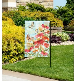 Magnet Works Garden Flag, Summer Zinnias, 12x18