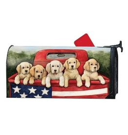 Magnet Works Mailbox Wrap, Patriotic Puppies, 6.5x19