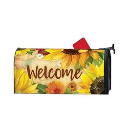 Magnet Works Mailbox Wrap, Yellow Sunflower, 6.5x19