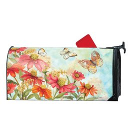 Magnet Works Mailbox Wrap, Summer Zinnias, 6.5x19