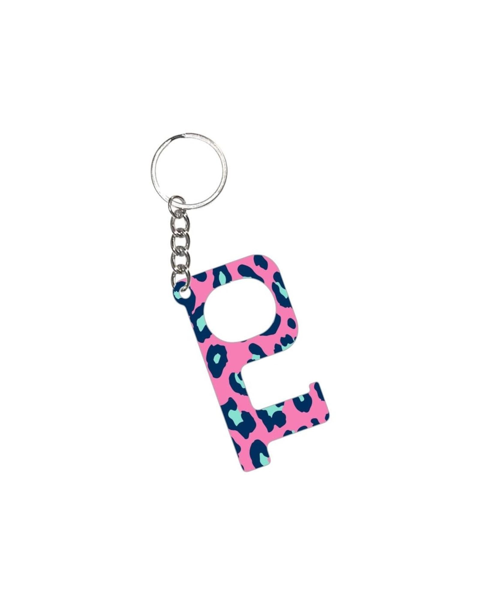Acrylic Door Key, Hot Pink Leopard