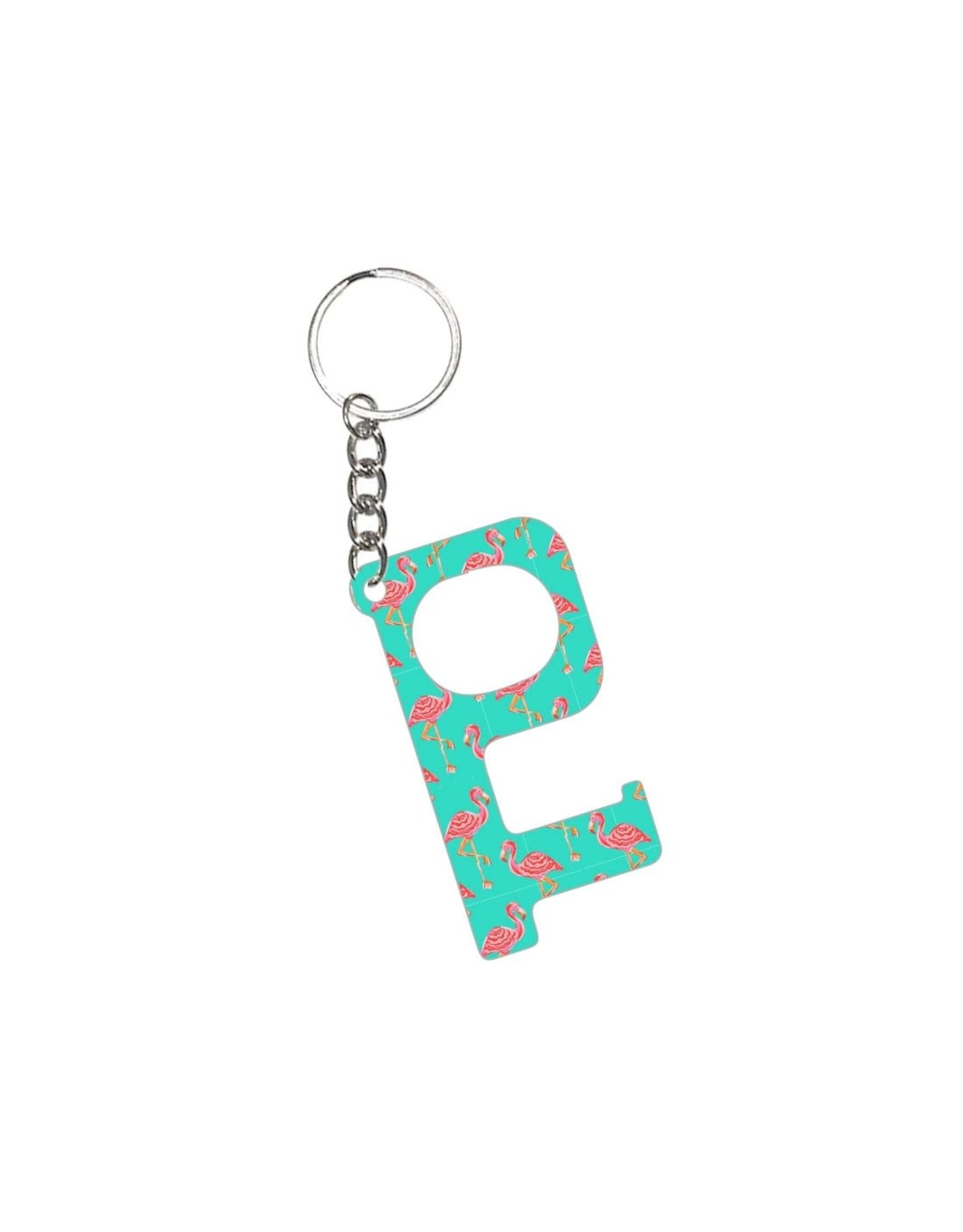 Acrylic Door Key, Tickle Pink Flamingo