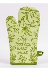Blue Q Oven Mitt, The Food Has Weed In It