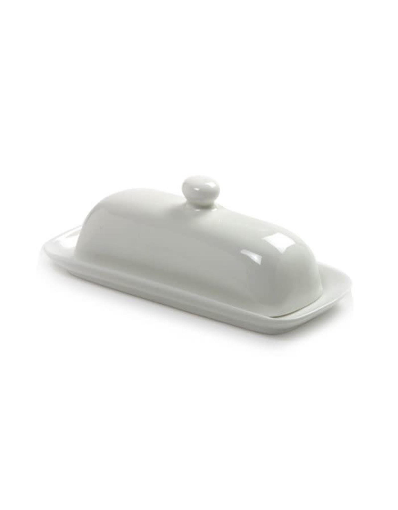 Norpro Porcelain Butter Dish w/Lid, White