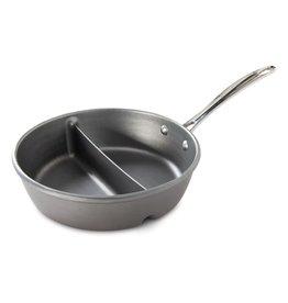 """Nordic Ware 2 in 1 Divided Aluminum Sauce Pan, 9.5"""""""