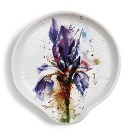 Round Spoon Rest, Iris