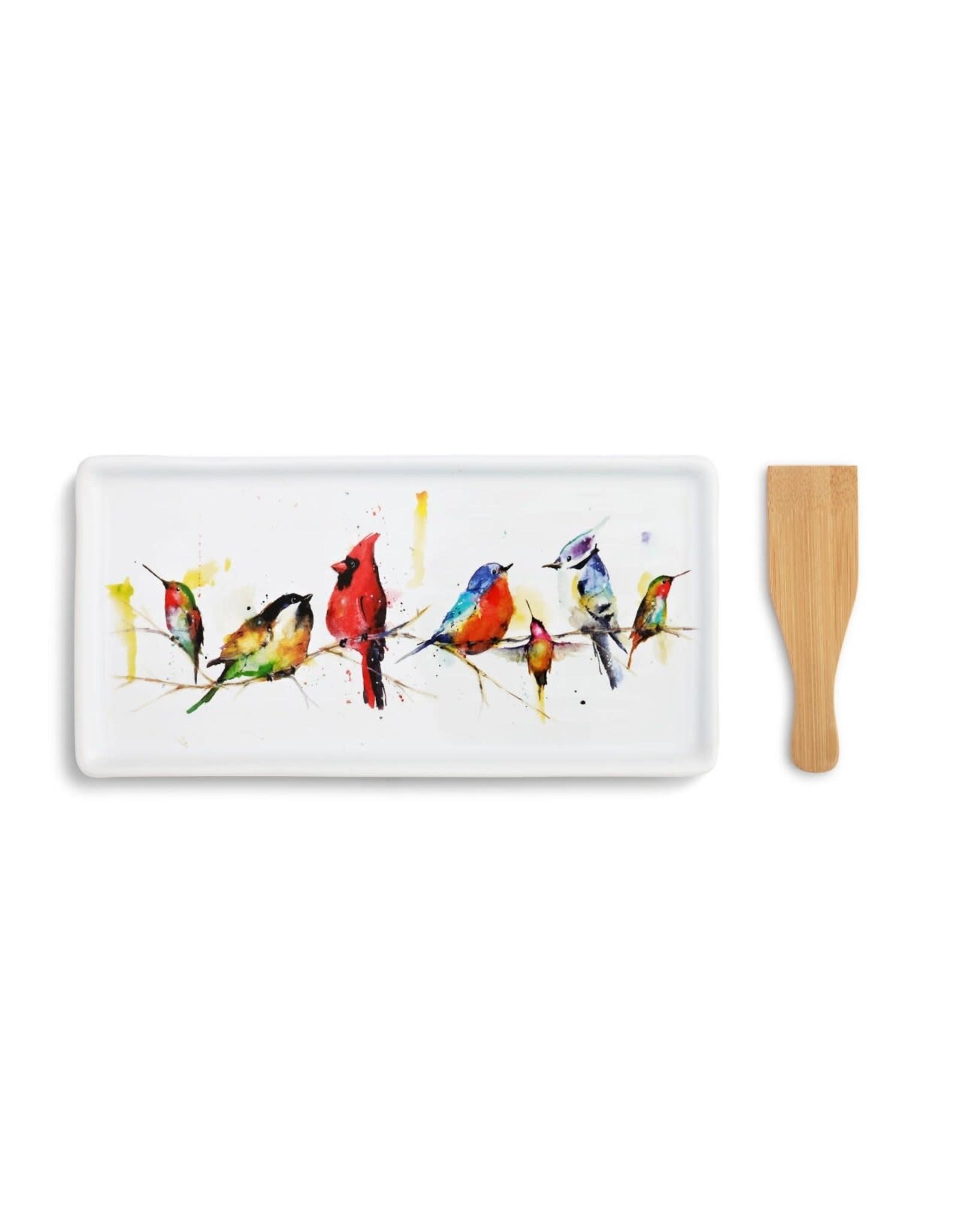 Appetizer Tray w/Spatula, Little Birds