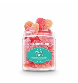 Candy Club Candy, Peach Hearts, 7oz