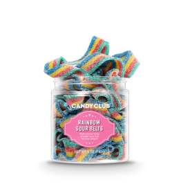 Candy Club Candy, Rainbow Sour Belts, 5oz