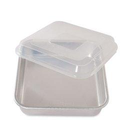 Nordic Ware Aluminum Cake Pan w/Lid, 9x9