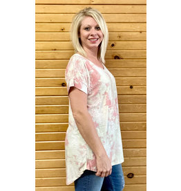 Honey Me V-Neck, Short Sleeve Paisley Top 1xl-3xl