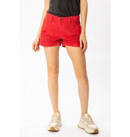Kancan Shorts, Distressed Mid Rise
