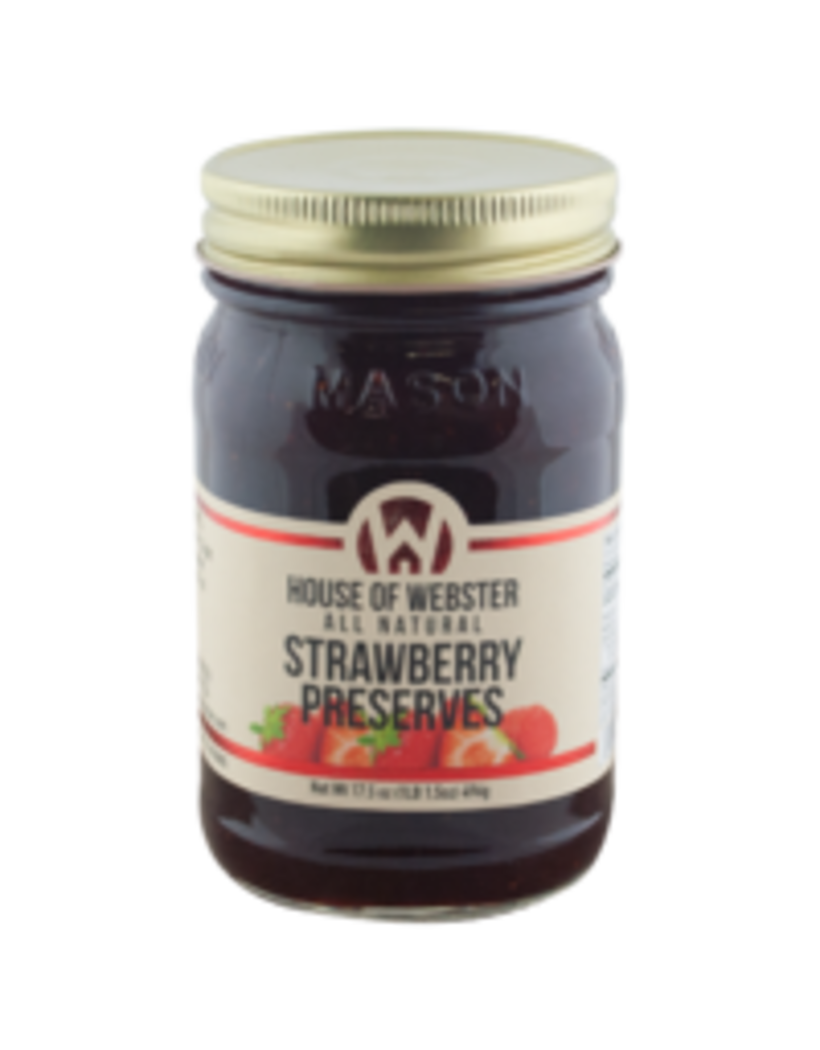 House of Webster Strawberry Preserves, 17.5 oz.