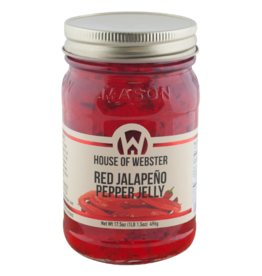 House of Webster Red Jalapeno Pepper Jelly, 17.5 oz.