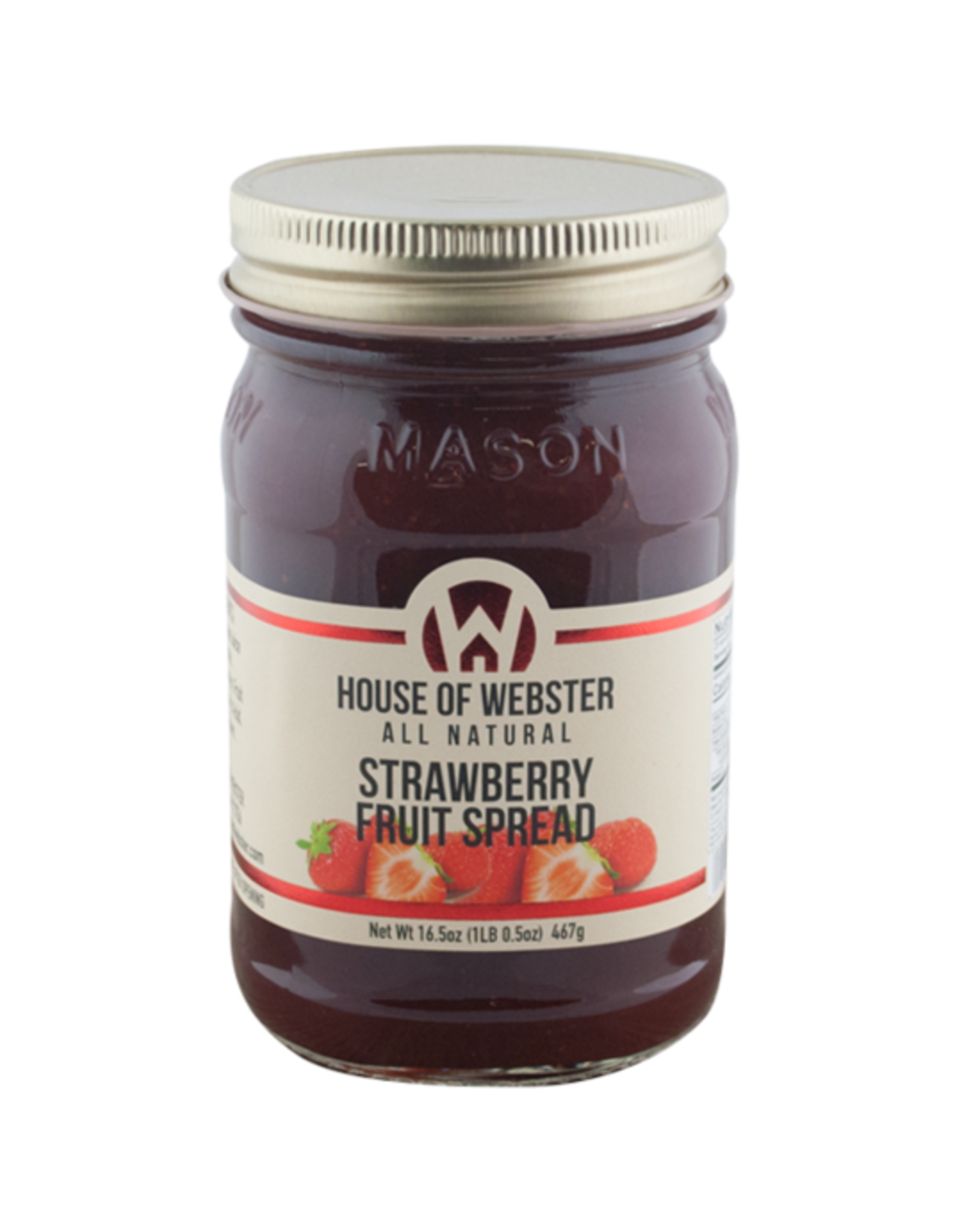 House of Webster Strawberry Fruit Spread, 16.5 oz.
