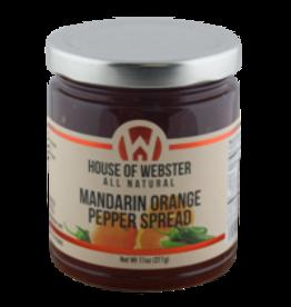 House of Webster Mandarin Orange Pepper Spread, 11 oz.